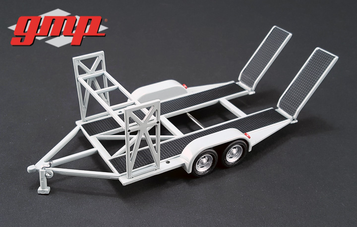 1:43 GMP Tandem Car Trailer with Tire Rack