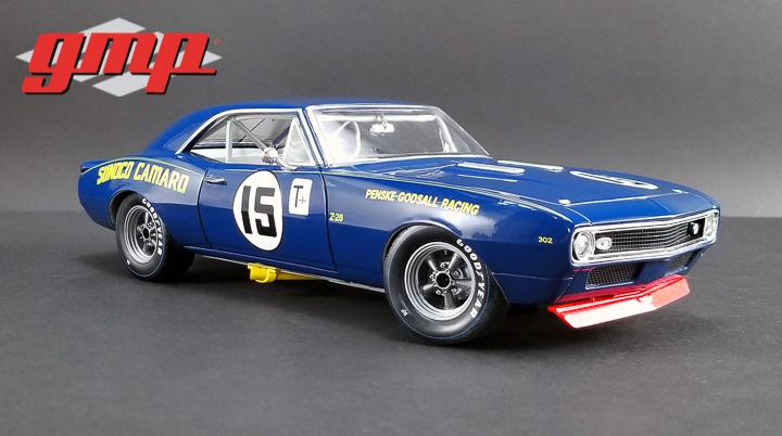 1:18 GMP 1967 Chevrolet Trans Am Camaro Z/28 - #15 Mark Donohue - Sunoco Penske Racing