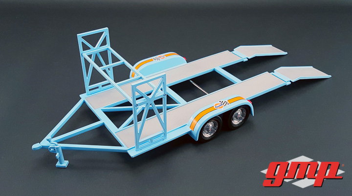 18835 - 1:18 GMP - 1:18 Tandem Car Trailer - Gulf Oil