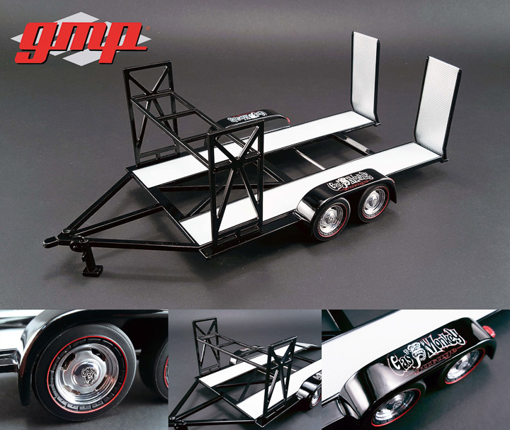 18836 - 1:18 GMP - 1:18 Tandem Car Trailer - Gas Monkey Garage