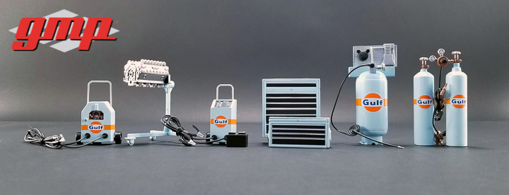GMP-18872 - 1:18 GMP Shop Tool Set #1 - Gulf Oil