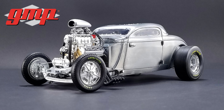 1:18 GMP 1934 Blown Altered Coupe - Raw Steel