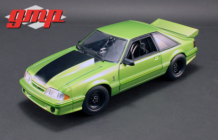 1:18 GMP 1320 Drag Kings 1993 Ford Mustang Cobra King Snake - Nitro Green