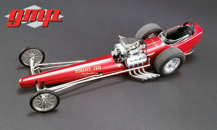 1:18 GMP Vintage Dragster - Tommy Ivo's Barnstormer Dragster - Bikini Beach Edition