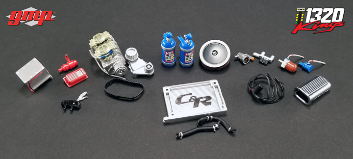 GMP-18908 - 1:18 GMP 1320 Drag Kings Accessory Pack