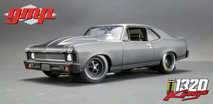 GMP-18915 - 1:18 GMP 1320 Drag Kings 1969 Chevrolet Nova - Blackout