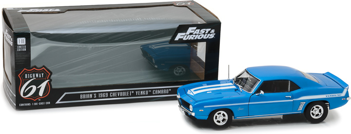 HWY-18001 - 1:18 Highway 61 - 1:18 Fast & Furious - 2 Fast 2 Furious (2003) - 1969 Chevrolet Yenko Camaro