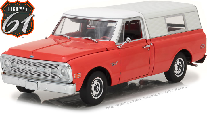 HWY-18004 - 1:18 Highway 61 - 1:18 1970 Chevrolet C-10 Pickup with Camper Shell