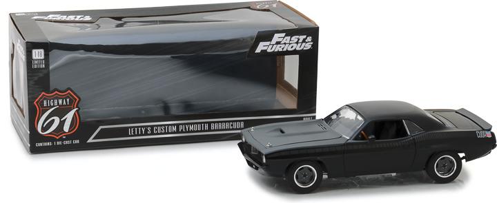 HWY-18005 - 1:18 Highway 61 - 1:18 Fast & Furious - Fast 7 (2015) - Custom Plymouth Barracuda