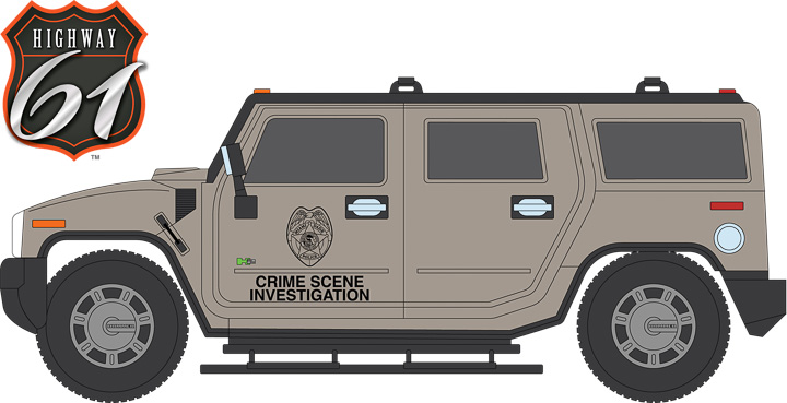 HWY-18006 - 1:18 Highway 61 - 1:18 CSI: Miami (2002-12 TV Series) - 2003 Hummer H2