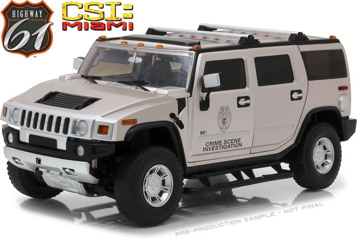 HWY-18006 - 1:18 Highway 61 - 1:18 CSI: Miami (2002-12 TV Series) - 2003 Hummer H2