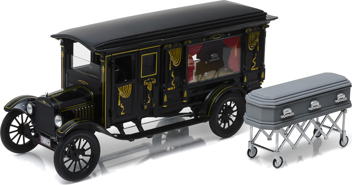 1921 Ford Model T Ornate Carved Hearse Photo